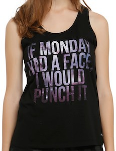 If Monday Had A Face I Would Punch It Girls Tank Top