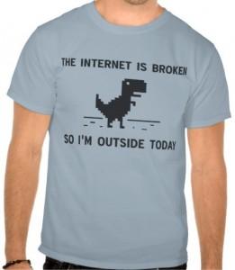 Internet Is Broken T-Rex T-Shirt