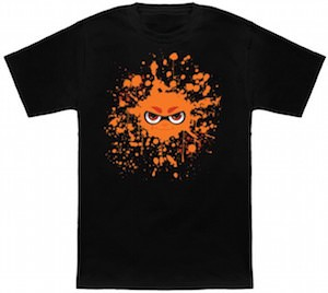 Orange Ink Splatter Face T-Shirt