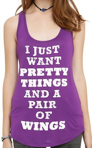 Purple Pretty Things And Wings Women's Tank Top