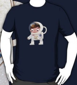 Bob The Cute Astronaut T-Shirt