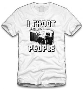 Camera I Shoot People T-Shirt