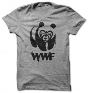 WWF Panda In Wrestling Suit T-Shirt