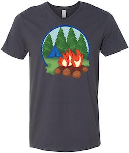 Men's Camping And Campfire T-Shirt
