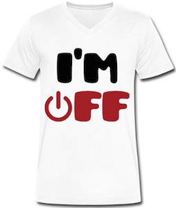 Men's I'm Off V-Neck T-Shirt