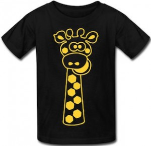 Giraffe Long Neck Kids T-Shirt