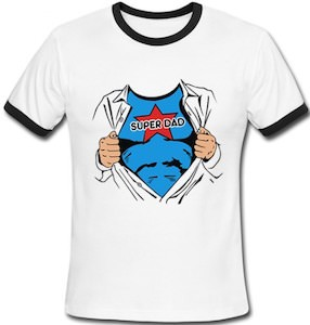 Super Dad Ringer T-Shirt