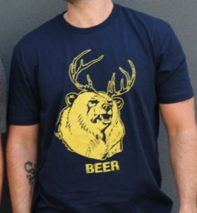 Beer Deer Cross Over T-Shirt