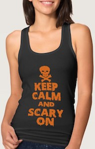 women's Keep Calm And Scary On Tank Top