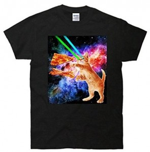 Pizza And Bacon Laser Eyes Cat T-Shirt