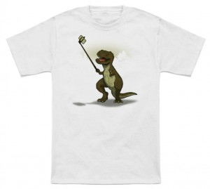 T-Rex Loves Selfie Sticks T-Shirt