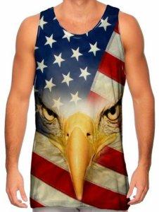 American Flag Bald Eagle Tank Top