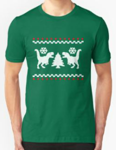 Dinosaur Ugly Christmas T-Shirt