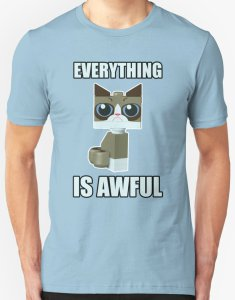 LEGO Grumpy Cat Awful T-Shirt
