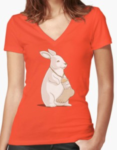 Women's Rabbit's Lucky Human Foot T-Shirt