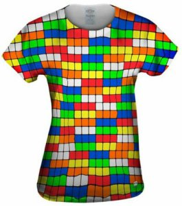 Rubix Cube Patterned T-Shirt