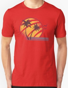 Sun Palm Trees And Water T-Shirt