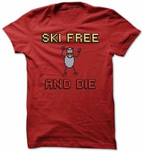 Ski Free Abominable Snowman T-Shirt