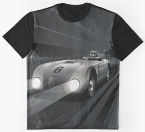 Vroom Vroom Black And White Car T-Shirt