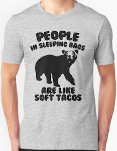 Bear Camping Humor T-Shirt