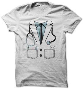 Doctor Uniform Print T-Shirt