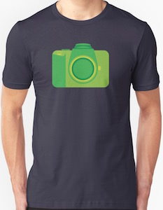 Funky Green Camera T-Shirt