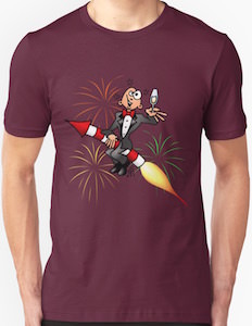New Year Party With Fireworks T-Shirt