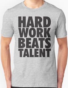 Hard Work Beats Talent T-Shirt
