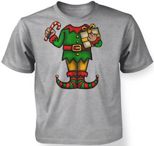 Kids Elf Costume T-Shirt