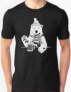 Polar Bear At A Bar T-Shirt