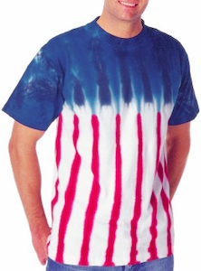 Tie Dye Flag Like T-Shirt