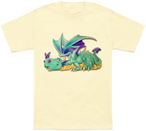 Dragon And A Butterfly T-Shirt