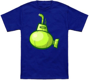 Green submarine t-shirt