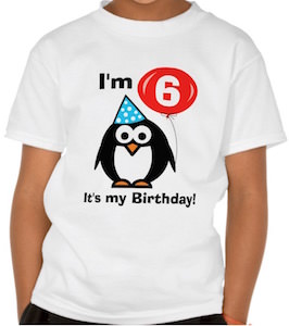 Penguin It's My Birthday T-Shirt