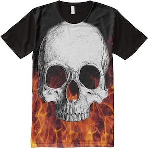 Skull And Fire T-Shirt