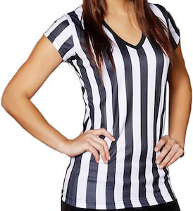 Women's Referee T-Shirt In Green, White Or Pink