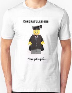 LEGO Congratulation Now Get A Job Graduation T-Shirt