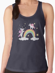 Rainbow And Unicorns Tank Top