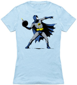 Batman Throwing A Bomb T-Shirt