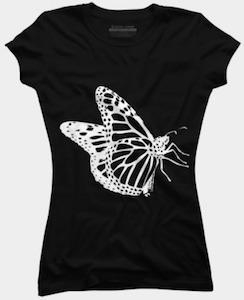 Big Butterfly Outline T-Shirt