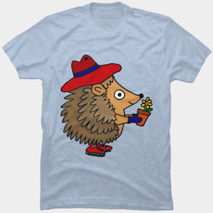 Gardening Hedgehog T-Shirt