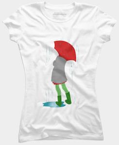 Girl In The Rain T-Shirt
