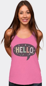 Women's Hello Tank Top