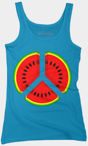 Watermelon Peace Sign Tank Top