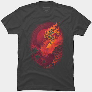 Heat Wave Surfer T-Shirt