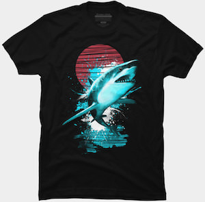 Shark At Night T-Shirt