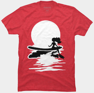 Surfing Mermaid T-Shirt