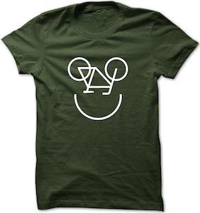 Smiling Bicycle T-Shirt for men and women