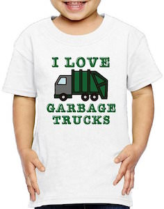 I Love Garbage Trucks Kids T-Shirt