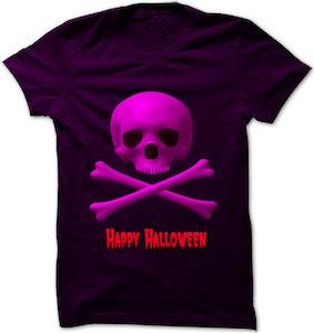 Skull And Bones Happy Halloween T-Shirt